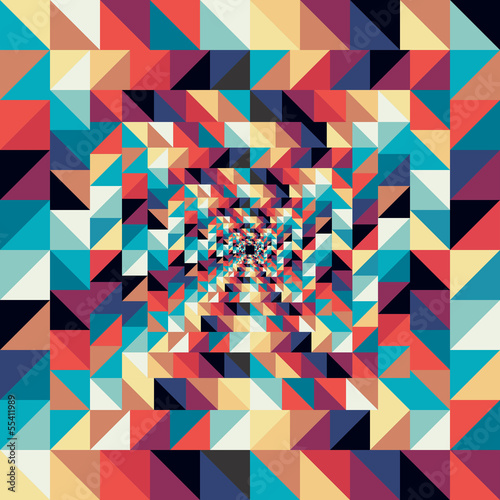 Foto auf Leinwand ZigZag Colorful retro abstract visual effect seamless pattern.