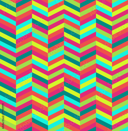 Spoed Foto op Canvas ZigZag Retro abstract seamless pattern.