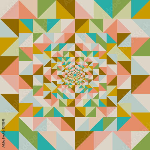 Tuinposter ZigZag Retro abstract visual effect seamless pattern.