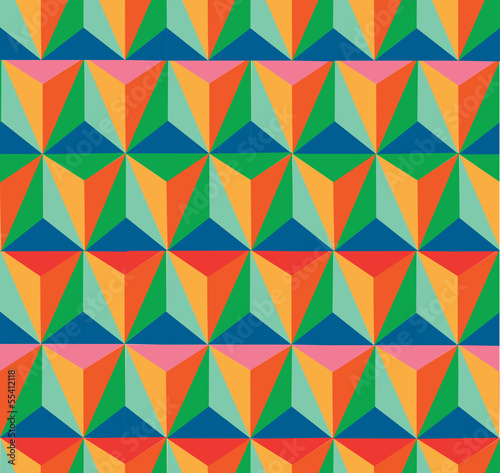 Spoed Foto op Canvas ZigZag Trendy retro hipster geometric seamless pattern.