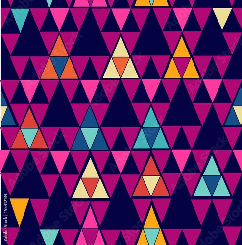 Spoed Foto op Canvas ZigZag Trendy vintage hipster geometric seamless pattern.
