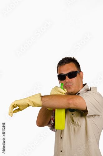 фотография  Cleaning macho