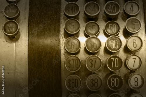 Monochromatic Antique Cash Register Buttons