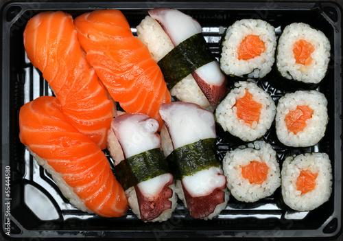 Poster Sushi bar Sushi plate