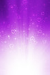canvas print picture - abstract purple background with heart