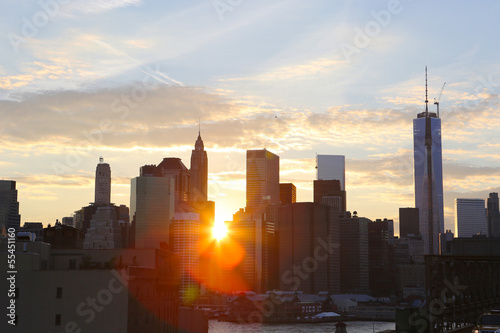 Sunset in New York Plakat