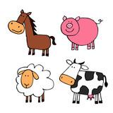 zwierzęta hodowlane - zestaw