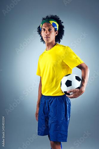 Foto-Vorhang - Brazil soccer man (von Daxiao Productions)