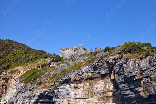 Fotografie, Obraz  Doria castle (1161) in Portovenere (UNESCO cite), Italy