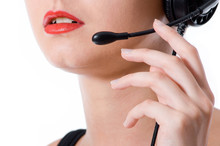 Close-up Shot Of A Hotline Wor...