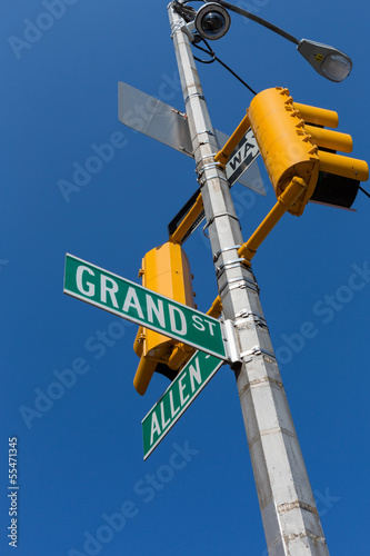 Foto op Plexiglas New York TAXI Street signs in New York