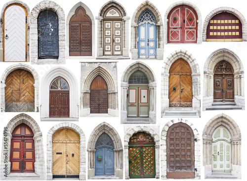 Fototapety, obrazy: Different old style doors
