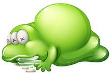A Dead Greenslime Monster