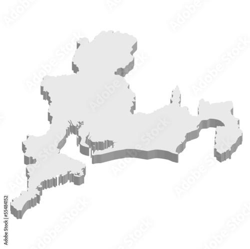 東海 地図 3D