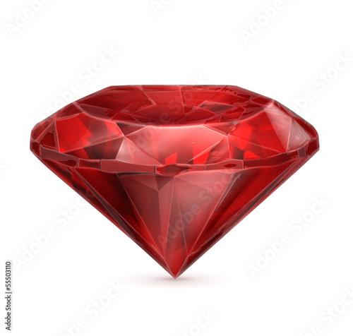 Cuadros en Lienzo  Ruby red icon