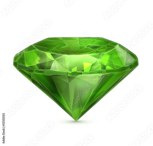 Emerald green icon Canvas Print