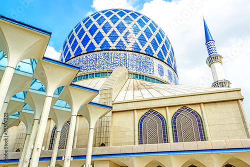 The Blue Mosque of Malaysia in Shah Alam, Malaysia. Poster