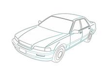 Honda Legend Na Białym Tle Gr...