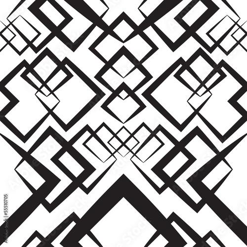 Tapeta ścienna na wymiar Seamlees Monochrome Wallpaper