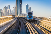Dubai Metro. A View Of The Cit...