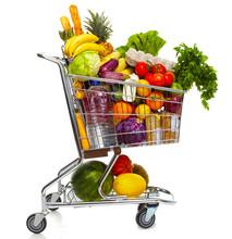 Full Grocery Cart.