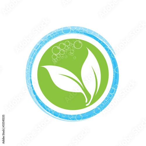 Fotografie, Obraz  Vector Logo Bio Soap
