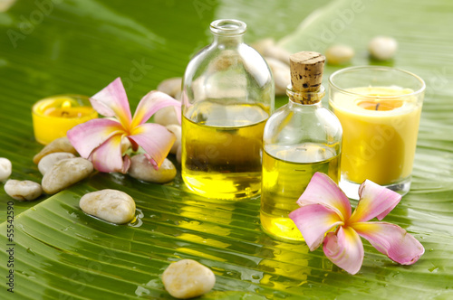 Staande foto Spa Banana leaf background- Health spa