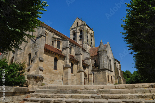 Photo France, the Notre Dame church of Auvers sur Oise