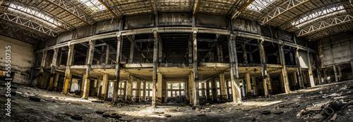 Papiers peints Les vieux bâtiments abandonnés old factory storage building panorama