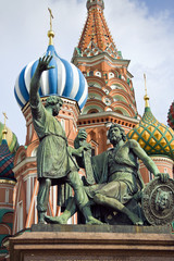 Fototapeta na wymiar Moscow Red Square cathedral detail