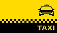 Business Card With Taxi