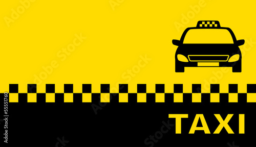 Canvas Print business card with taxi