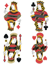 Four Queens Without Cards. Ori...