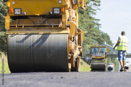 Construction and repair of highway - Buy this stock photo