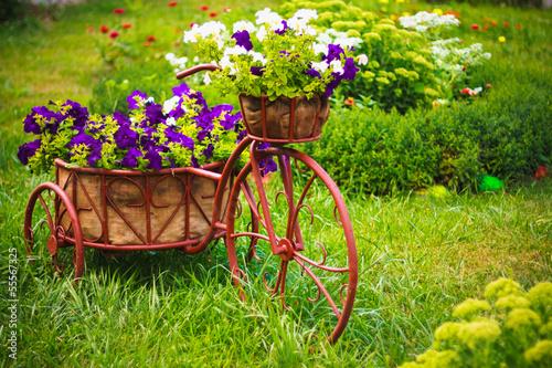 Türaufkleber Fahrrad Decorative Bicycle In Garden