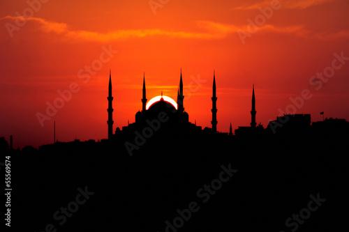 Leinwand Poster Golden Ring of Blue Mosque-Sultanahmet altin yüzük-Istanbul