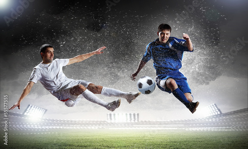 Photo  Two football player