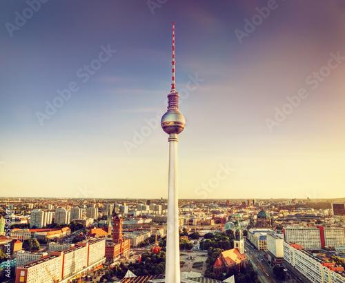 Keuken foto achterwand Berlijn Tv tower or Fersehturm in Berlin, Germany