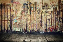 Grunge, Rusty Concrete Wall Wi...