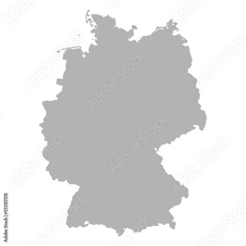 Fototapeta premium Niemcy mapa szara I