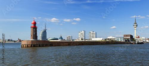Foto auf AluDibond Stadt am Wasser Bremerhaven Panorama
