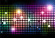 canvas print picture - Cool disco background with colorful lights