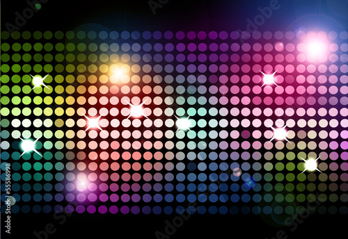 Fotografía  Cool disco background with colorful lights