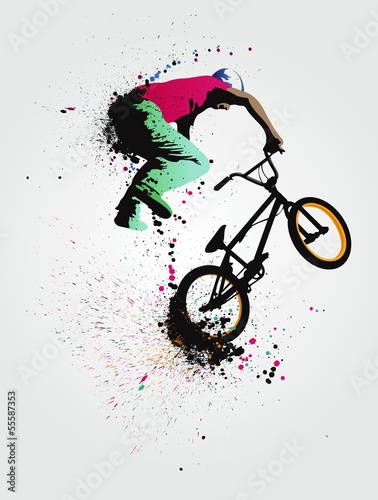 bmx freestyle Canvas Print