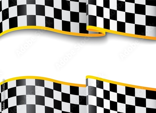 Fototapeta Race background. Checkered black and white