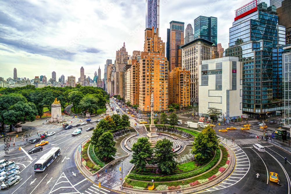 Fototapety, obrazy: New York Columbus Circle