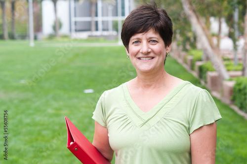 Fotografie, Obraz  portrait of a smiling mature woman