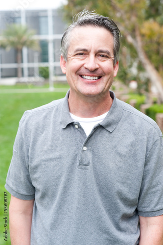 Fotografie, Obraz  casual portrait of a mature, happy man