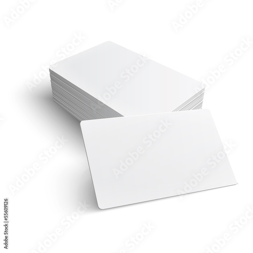 Photo  Stack of blank business card.
