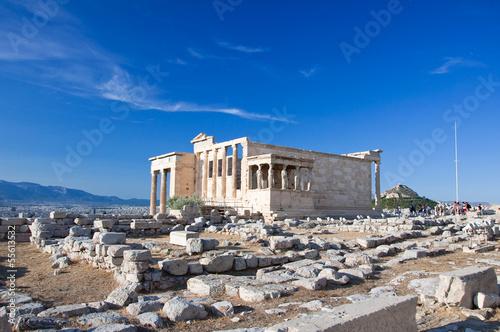 Staande foto Athene The Erechtheion on Acropolis of Athens in Greece.